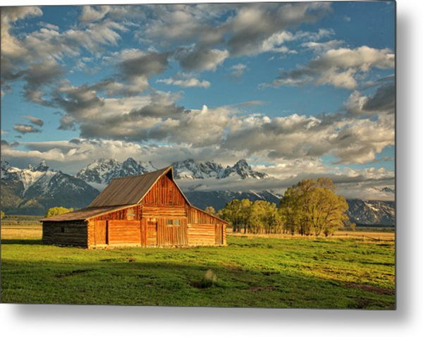 Morning Light On Moulton Barn #2 Metal Print