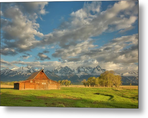 Morning Light On Moulton Barn Metal Print