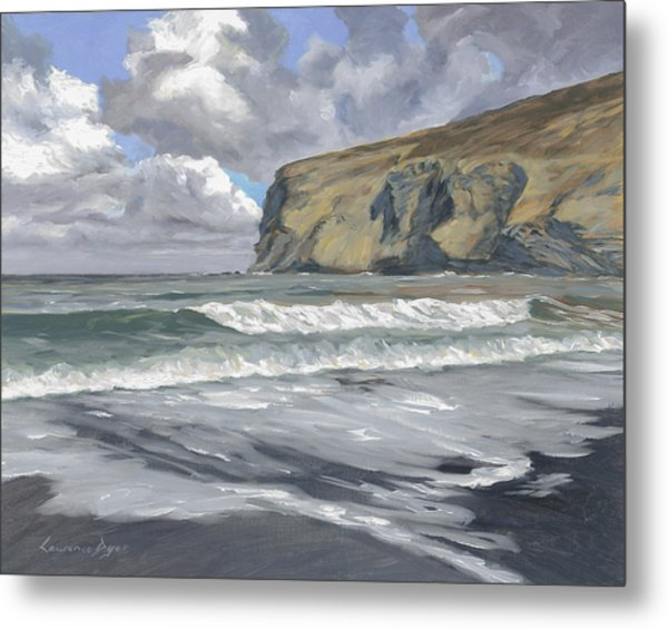 Morning Light On Pencannow Point Metal Print