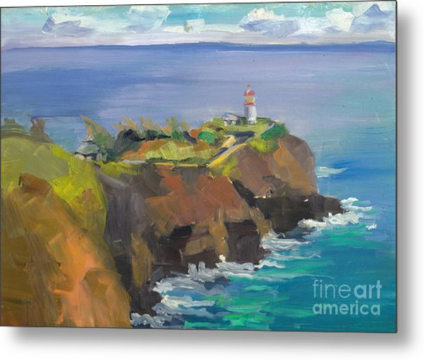 Morning Lighthouse Metal Print by Cynthia Riedel