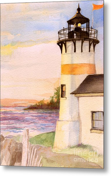 Morning, Lighthouse Metal Print