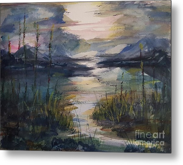 Morning Mountain Cove Metal Print