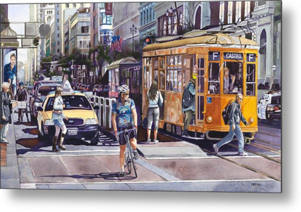 Morning On Market Street Metal Print by Mike Hill