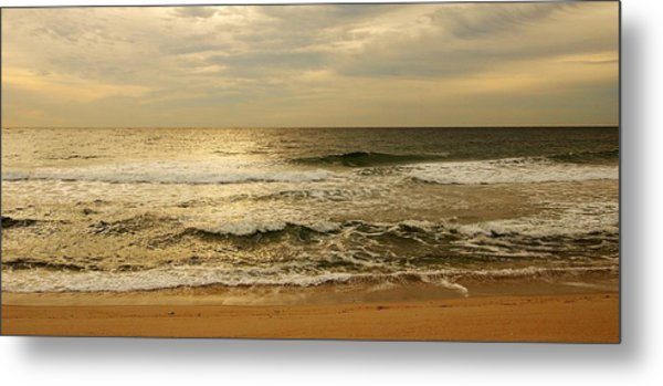 Morning On The Beach - Jersey Shore Metal Print