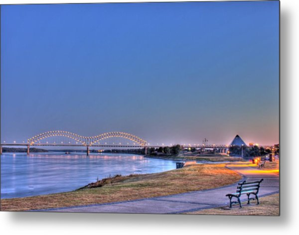 Morning On The Mississippi Metal Print