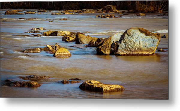 Morning On The Rocky River Metal Print