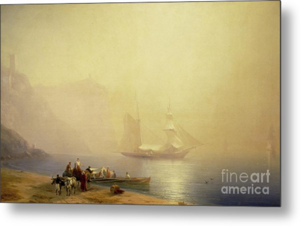 Morning On The Shore Of The Sea, Sudak, 1856 Metal Print
