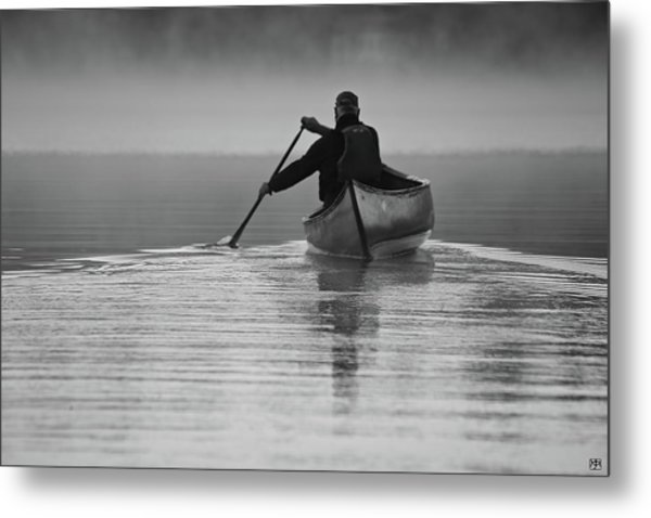 Morning Paddle Metal Print