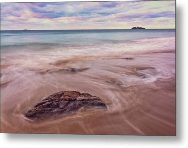 Metal Print featuring the photograph Morning Pastels Singing Beach Ma by Michael Hubley