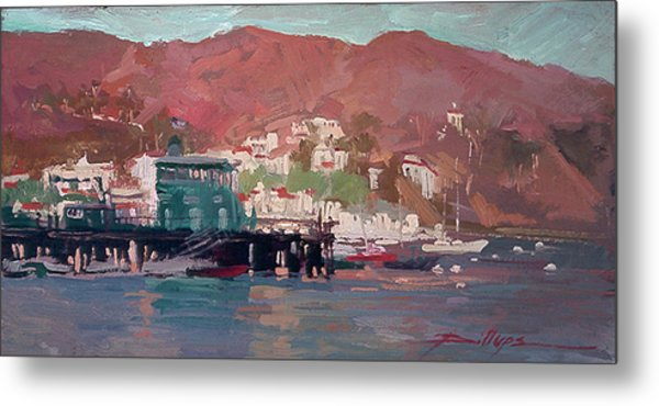 Morning Pleasures - Catalina Harbor Metal Print