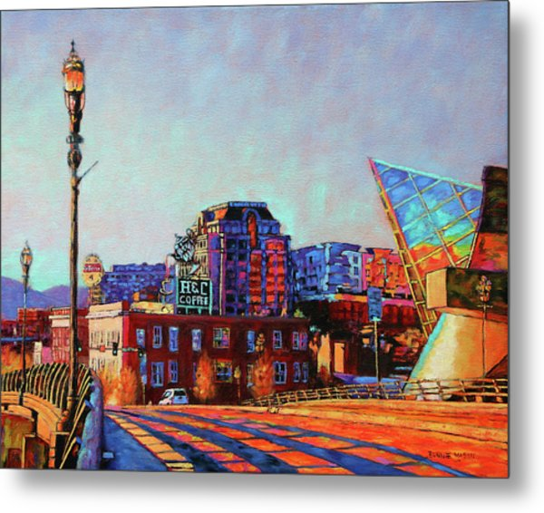 Morning Rush - The Corner Of Salem Avenue And Williamson Road In Roanoke Virginia Metal Print