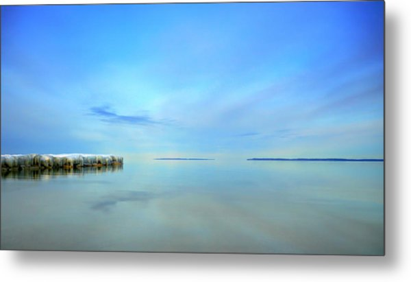 Morning Sky Reflections Metal Print