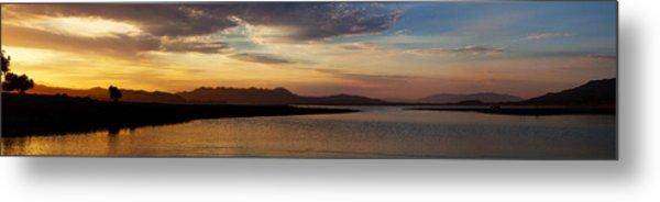Morning's Colors Panorama Metal Print by Richard Stephen
