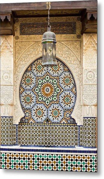 Moroccan Fountain Metal Print