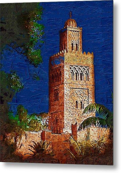 Morocco Pavilion In Epcot Metal Print