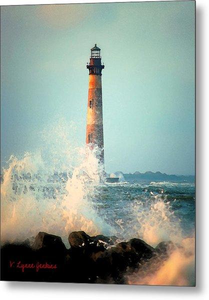 Morris Island Lighthouse Metal Print