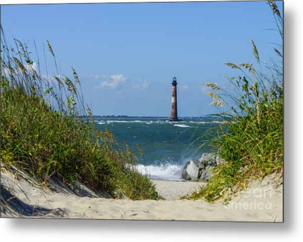 Morris Island Lighthouse Walkway Metal Print
