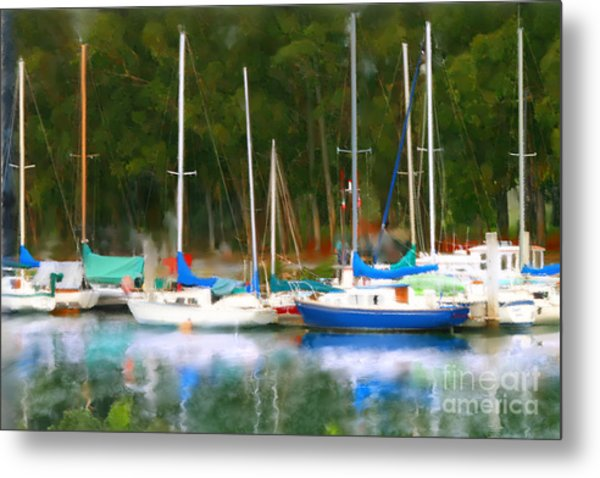Morro Bay Sail Boats Metal Print