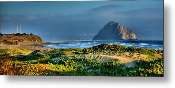 Morro Rock And Beach Metal Print