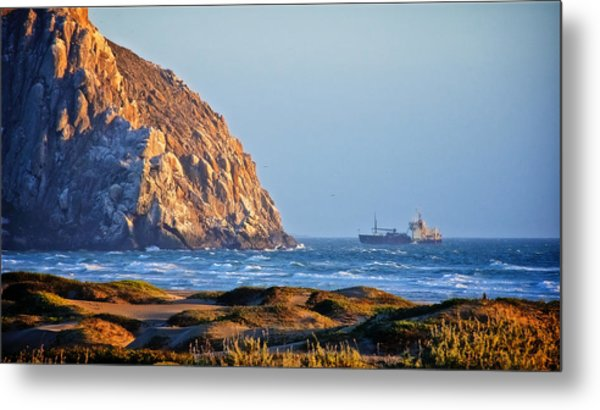 Fishing Trawler At Morro Rock Metal Print