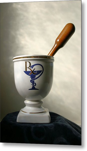 Mortar And Pestle Metal Print