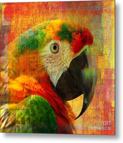 Mosaic Macaw 2016 Metal Print