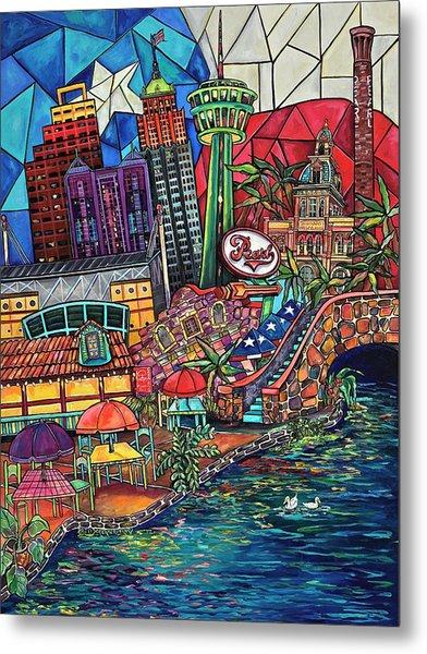 Mosaic River Metal Print
