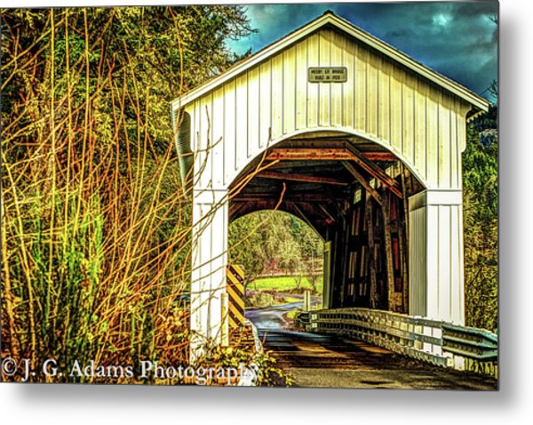 Metal Print featuring the photograph Mosby Creek Bridge by Jim Adams