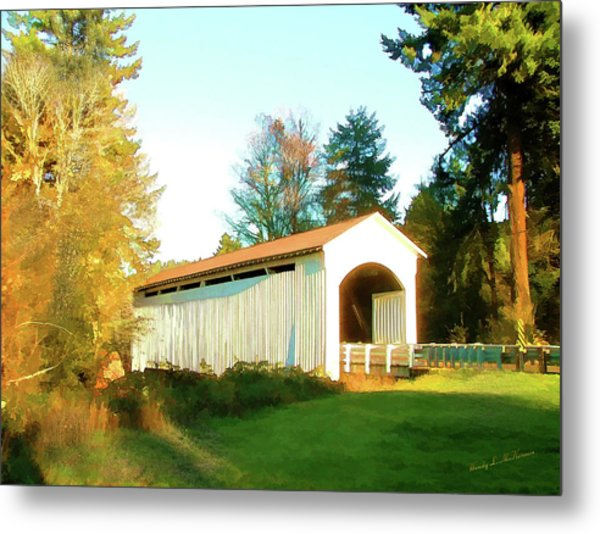 Mosby Creek Covered Bridge Metal Print