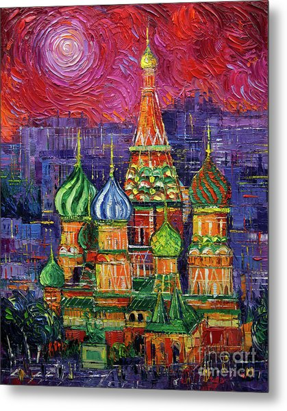 Moscow Saint Basil's Cathedral Metal Print