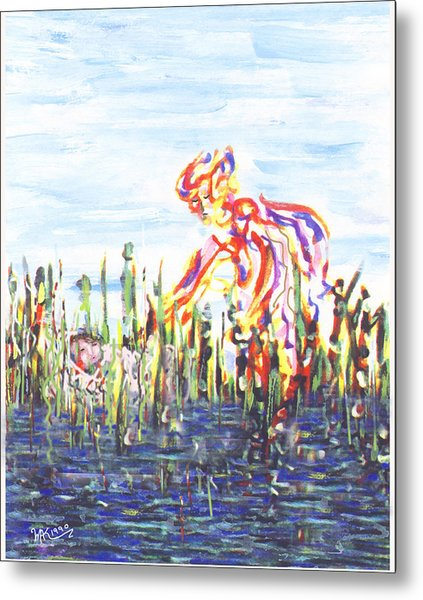 Moses In The Rushes Metal Print