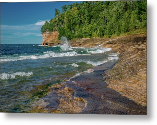 Mosquito Harbor Waves  Metal Print