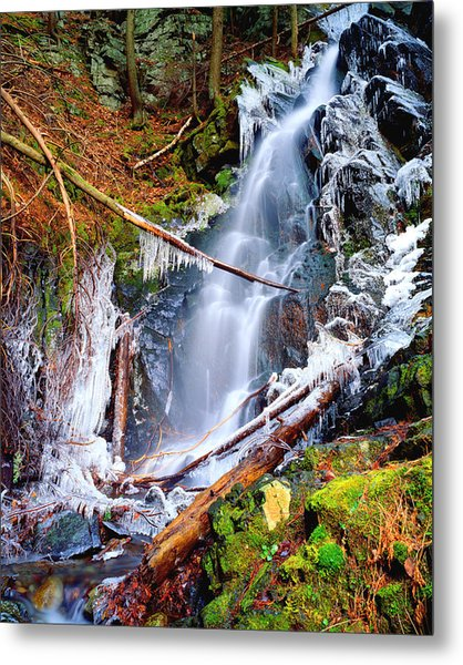 Mossy Cascade Falls Metal Print
