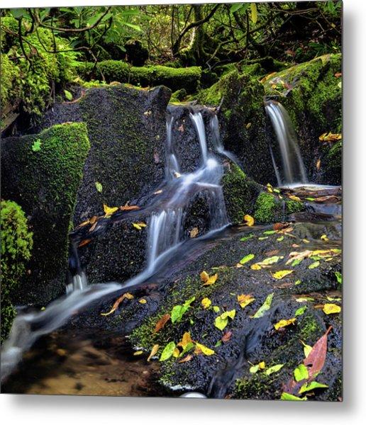 Emerald Cascades Metal Print