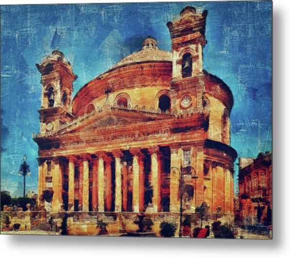 Mosta Church Metal Print