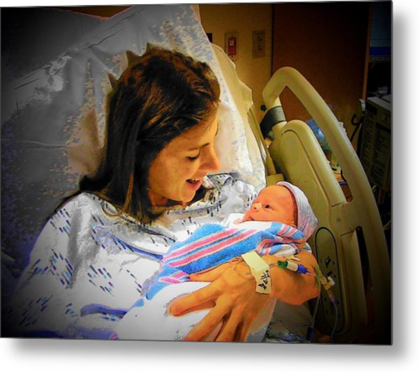 Mother And Babe Metal Print