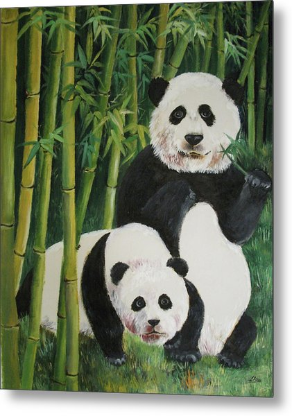 Mother And Child 2 Metal Print by Lian Zhen