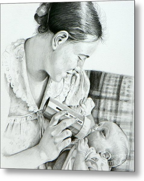 Mother And Child Metal Print by David Ackerson