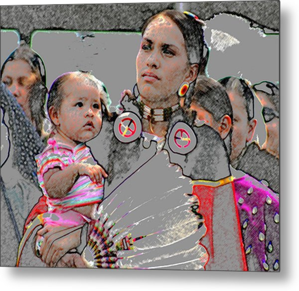 Mother And Child Metal Print by Laurie Prentice