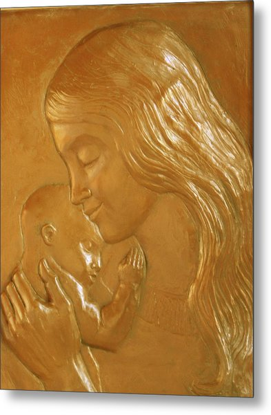 Mother And Child Relief  Metal Print
