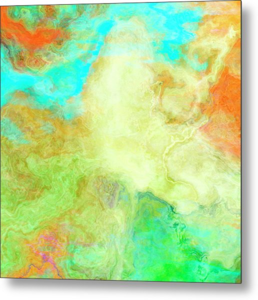 Mother Earth - Abstract Art - Triptych 1 Of 3 Metal Print