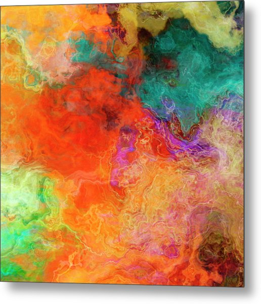 Mother Earth - Abstract Art - Triptych 2 Of 3 Metal Print