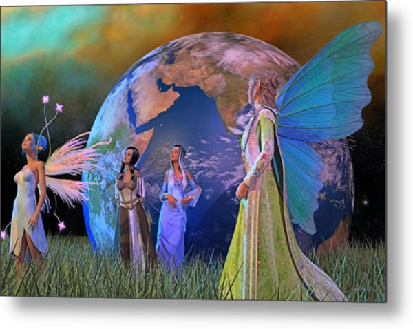 Mother Earth Series Plate5 Metal Print