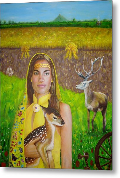 Mother Goddess Ker - Lammas Metal Print