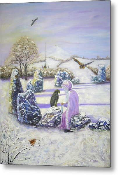 Mother Of Air Goddess Danu - Winter Solstice Metal Print