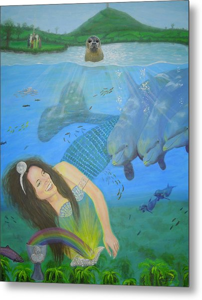Mother Of Water Goddess Domnu - Summer Solstice Metal Print