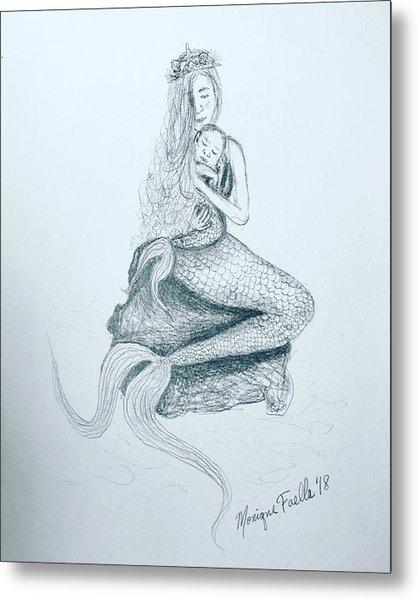 Motherhood Mermaid Metal Print