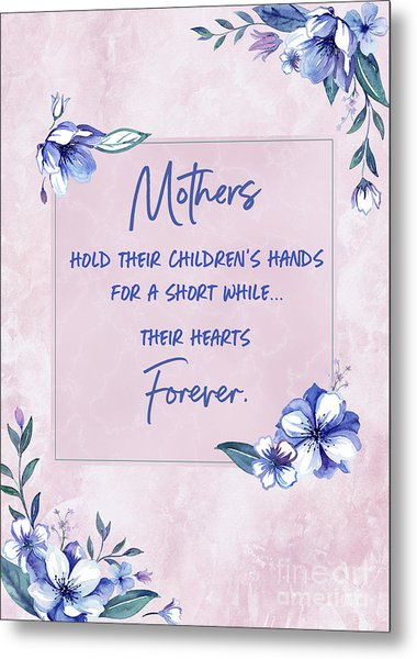 Mothers And Their Children Metal Print