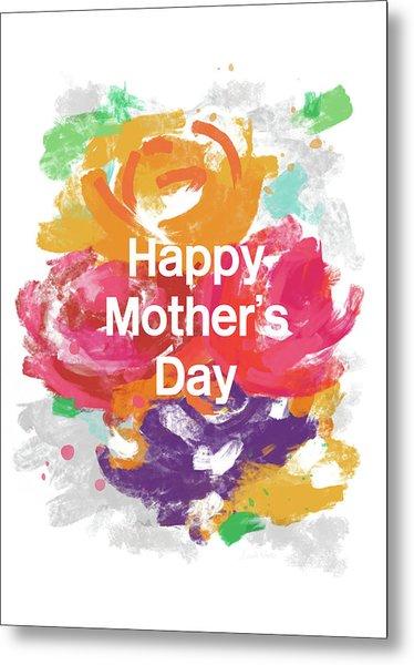 Mother's Day Roses- Art By Linda Woods Metal Print