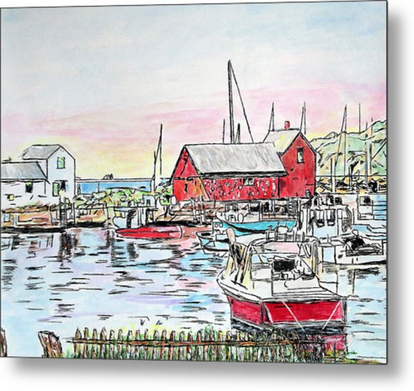 Motif #1 Rockport, Massachusetts Metal Print